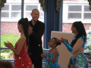 Latin dancers Daniela Ocampo, Oscar Calderon, Allyson Ramirez and Dayanna Patino from DREAMS Dance Studio
