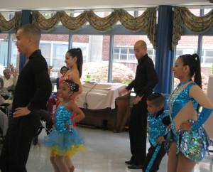 DREAMS Dance Studio dancers  Daniel Herrera, Allyson Ramirez, Daniela Ocampo, Oscar Calderon, Jean Paul Medina and Dayanna Patino at Morris View