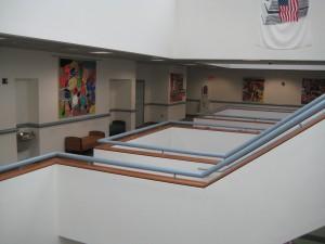 4th floor atrium Mitchell Rosenzweig's works