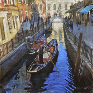 Todd L.W.Doney's oil on linen, Venice #1
