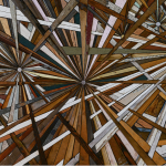 Roddy Wildeman, large multi starburst rectangular work, composite memory