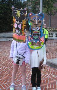 Kids wearing Fenelon masks