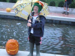 Having fun despite the rain