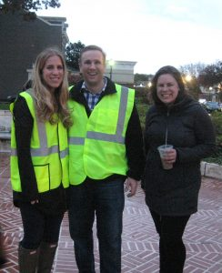 Morris Arts' Kaity De Laura, her fiance Kevin and Morristown Partnership's Jen Wehring