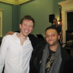 Dr. Alex Glenfield, throat singer, with tabla drummer, Shivalik Ghoshal
