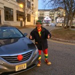Juggles the Clown with his Clownmobile, courtesy Morristowngreen.com