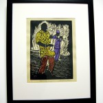 Jacquleine Collier's linocut, All that Jazz