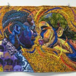 Bisa Butler's The Kiss, art quilt