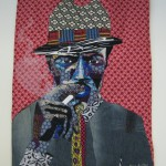 Bisa Butler,s art quilt, We Cool