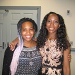 Bisa Butler (R) with her daughter