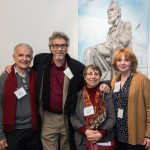 Artists Doug DePice, Neal Korn, Arlene Gale Milgram with Elaine Rastocky of Dodge