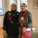 Dr. Lynn Siebert with artist Arlene Gale Milgram