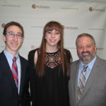 Scholarship Winners Reed Puleo and Tori Hey with Tom Werder