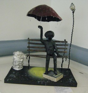 small, Jennifer Cappuccio's paper mache, Drops of Hope (Montville Twp)