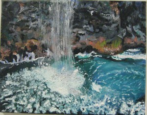 small, Maureen Shelley oil, Na Pali Coast (Mendham)