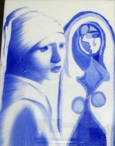 small, Maxwell Creager's ballpoint, Picasso meets Vermeer (Mendham)