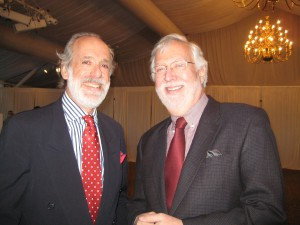 Ron Filler with Steve Miller, Executive Director of Boscobel (former Executive Director, Morris Museum)