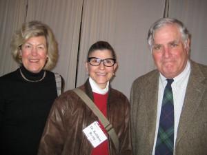 Morris Arts Board members Susan Budd, Dr. Kathleen Ruddy with David Budd