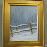 Don Kuhn's oil, Winter, Study in Grey and Brown