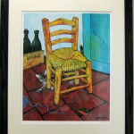 Gail Mardfin's giclee of original acrylic painting, Vinchat