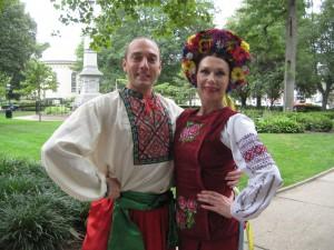 Ukrainian dancers Sergij Tsyghanok and Olga Chpitalnaia