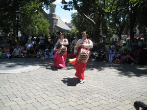 another view of Korean Drum Dance
