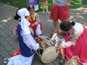 It's never too early to start learning to drum