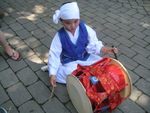 Young Korean drummer