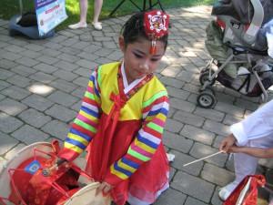 Young Korean dancer