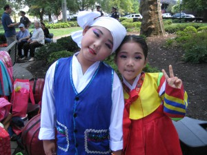 Youngest members of Korean Traditional dance troupe