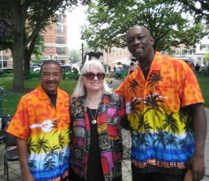 Patrick Gomes, Dr. Lynn Siebert, Conroy Warren