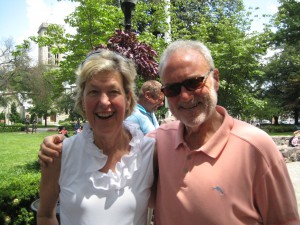 Morris Arts board members Susan Budd and Chair Tom McMillian