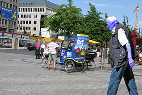 Peter Tilgner's merged image photo art, Blue Man (Berlin series)