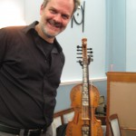 Dan Trueman with his Norwegian Hardanger fiddle