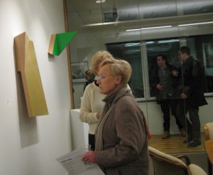 small, people viewing Bottwin's work