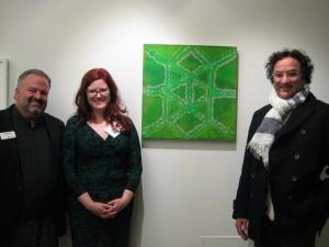 Tom Werder, Katherine Murdock, and artist Riad Miah