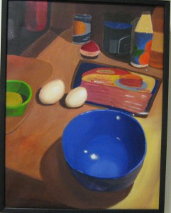 Carolline Morales' acrylic, The Breakfast Brunch (Mt. Olive)