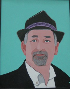 Perri Philip's acrylic, Dad