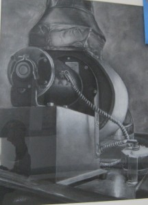 Rosa Chang's white charcoal, Mechanical Study