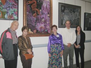Artist Cheryl Safren with guests