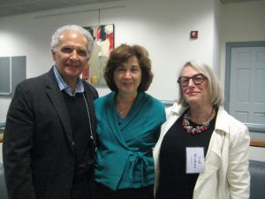 Artist Doug DePice with his wife Marilyn and Artist Gail Winbury