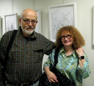 Artist Etty Yaniv with her husband