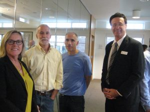 Morris Arts' Kadie Dempsey with Nick and Joe LoSavio and Kevin O'Brien, 1st Vice Chair, New Jersey State Council on the Arts
