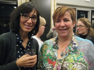 on right, Landscape architect Carolle Huber, VIce President and Co-Founder of Grow It Green