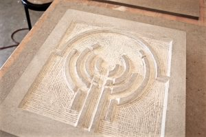 Carved Menorah