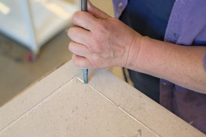 Carving a panel border