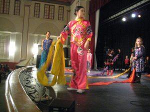 Nai Ni Chen dancers teach the Ribbon Dance
