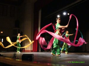 Performing the Ribbon Dance