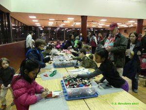 Kids and families enjoy LEGOs