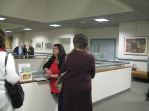 Artist Andrea Epstein talks with Lynn Gorman and others about her work